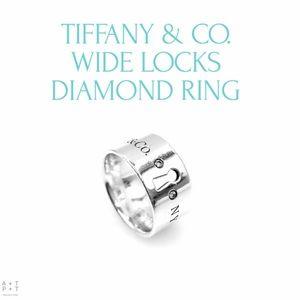 Tiffany & Co. Wide Locks Diamond Ring